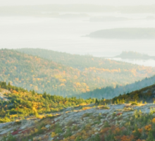Cadillac Mountain in Fall, Acadia National Park Maine Sticker