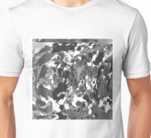 black and white spiral painting abstract background Unisex T-Shirt
