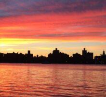 Manhattan Sunset from Brooklyn, NYC Sticker
