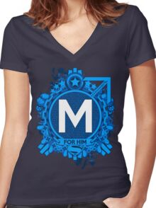 FOR HIM - M Women's Fitted V-Neck T-Shirt