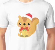 Funny Chrismas Squirrel Emoji Cute Smile Face Unisex T-Shirt