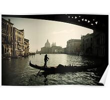 Winter Morning On The Grand Canal Poster