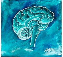 The Blue Brain Photographic Print