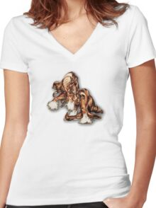 """Stallion Swagger"" Women's Fitted V-Neck T-Shirt"