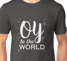 Oy To The World Funny Hanukkah Christmas Snow Gifts  Unisex T-Shirt