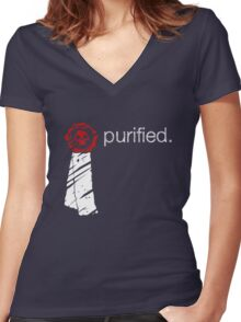 Purity Seal Women's Fitted V-Neck T-Shirt