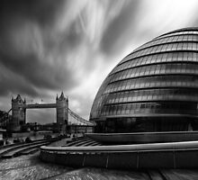 London City Hall and Tower bridge. by Ian Hufton