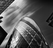 The Gherkin - London. by Ian Hufton