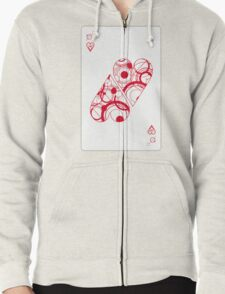 Two (of) Hearts Zipped Hoodie