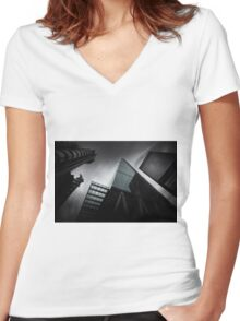 London Skyscrapers Women's Fitted V-Neck T-Shirt