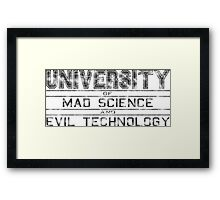 University of Mad Science and Evil Technology - Classic Framed Print