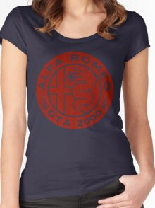 Alfa Romeo GTA 2000 Distressed RED Women's Fitted Scoop T-Shirt