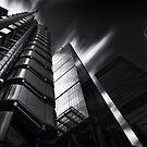 The lloyds Building & Gherkin London.  by Ian Hufton