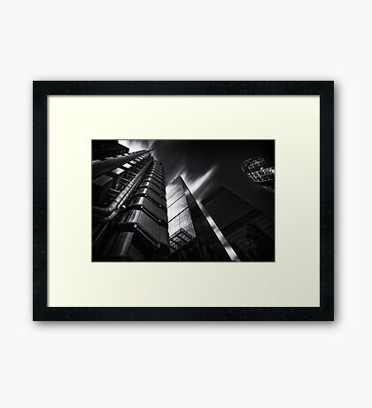 The lloyds Building & Gherkin London.  Framed Print