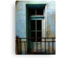 Blue Balcony Canvas Print