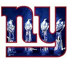 New York Football Giants Throwback Logo Photographic Print