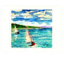 Down Wind Art Print