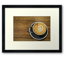 A perfect cup of Coffee Framed Print