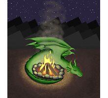 Campfire Dragon Photographic Print