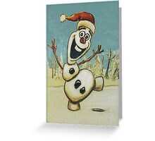 Christmas Olaf from Disney Frozen Greeting Card