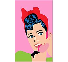 Vintage Pink Phone Call Photographic Print