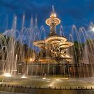 Fountain at night by Philippe Widling