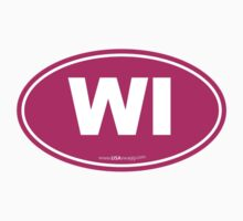 Wisconsin WI Euro Oval PINK Kids Clothes