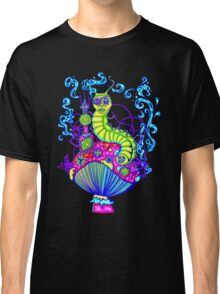 Glow Hooka Smoking Caterpillar Classic T-Shirt