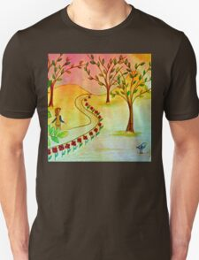 An autumn walk at dusk Unisex T-Shirt