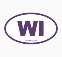 Wisconsin WI Euro Oval  PURPLE by USAswagg2