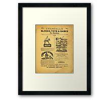 1879-1880, CRANDALL'S BLOCKS TOYS & GAMES FOR CHILDREN Framed Print