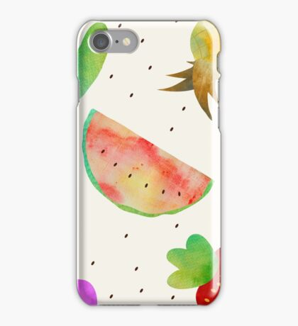 Watercolor Fruits and Vegetables iPhone Case/Skin