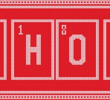 Red and White HO HO HO Christmas Chemistry Sweater Pattern Sticker