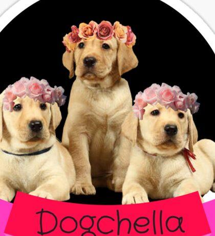 Flower Crown Labrador Dogchella  Sticker