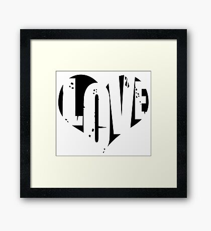 Love in Heart Framed Print