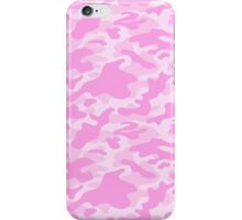 Pink Camouflage Pattern  iPhone Case/Skin