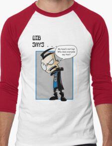 My head's not big! Men's Baseball ¾ T-Shirt