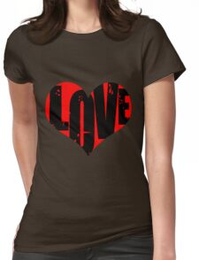 Love in Heart Womens Fitted T-Shirt