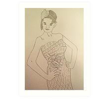 Wedding Dress No 3 Art Print