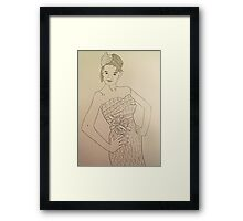 Wedding Dress No 3 Framed Print