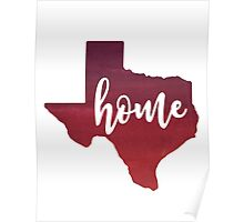 texas home.  Poster