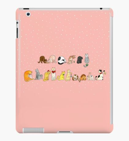 Ye Ol' Merry Christmas Kitty's iPad Case/Skin