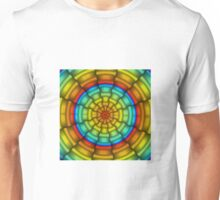 Ribbons Gradient - Blue | Cyan | Yellow | Orange | Red | Black Unisex T-Shirt