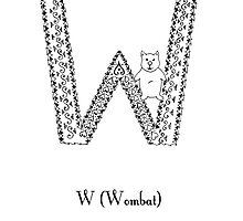 W is for Wombat by Cat-Igrun