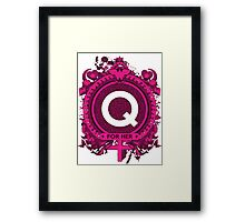 FOR HER - Q Framed Print