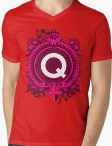 FOR HER - Q Mens V-Neck T-Shirt