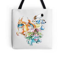 Mega Pokemon Trio Tote Bag