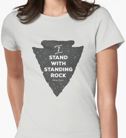 I Stand with Standing Rock : 100% Profits Donated Womens Fitted T-Shirt