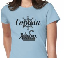 Captain Swan Icons Typography 1 Womens Fitted T-Shirt