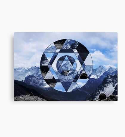 Geometric Winter Landscape Canvas Print